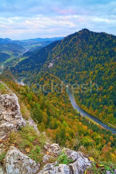 Foto d'archivio: Fiume · view · montagna · Polonia · cielo · legno