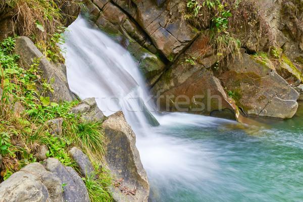 The Zaskalnik Waterfall. Natural source of water. Stock photo © bogumil