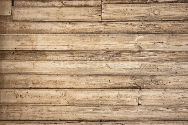öreg klasszikus fából készült vízszintes fa fal Stock fotó © bogumil