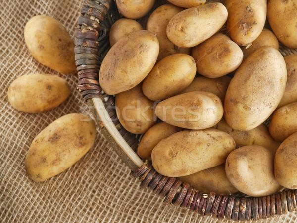 Sepet patates taze lezzetli yeni Stok fotoğraf © bogumil