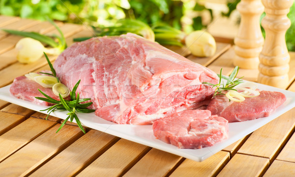 Raw chuck steak for barbecue Stock photo © bogumil