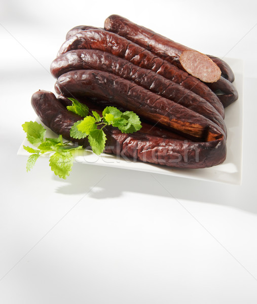 Baked sausage Stock photo © bogumil