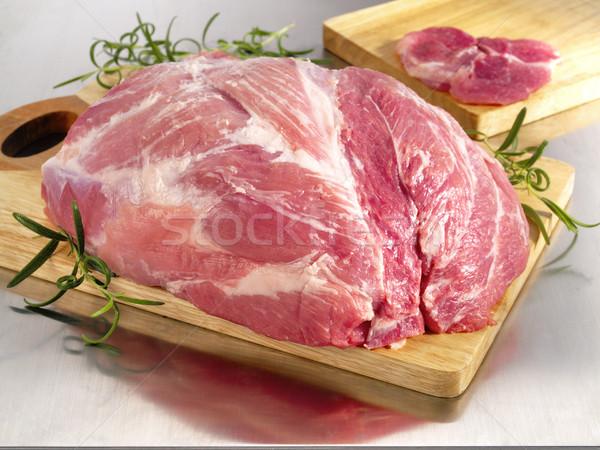 Carne de porco presunto fresco grupo Foto stock © bogumil
