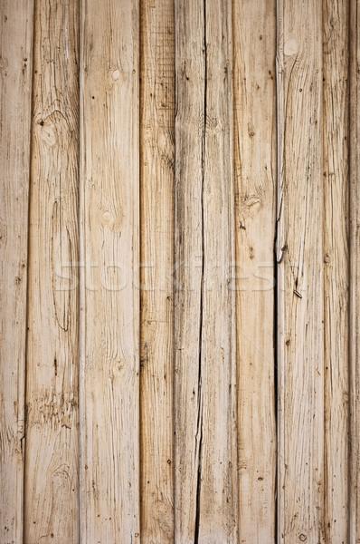 Eski ahşap dikey ağaç duvar Stok fotoğraf © bogumil
