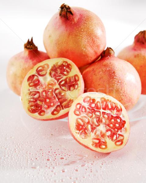 Cortar romã grupo água fruto Foto stock © bogumil