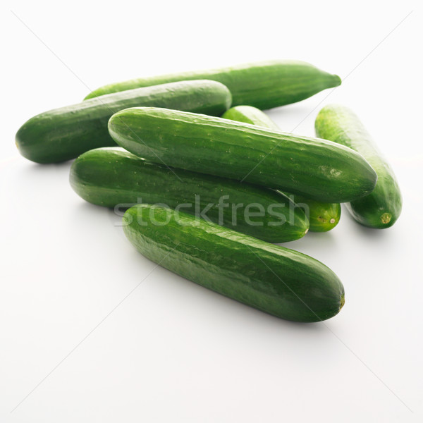 Stock photo: Cucumbers isolated on white background