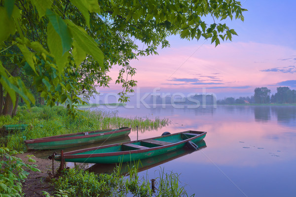 Morning haze over the river. Stock photo © bogumil