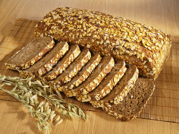 Frissen teljeskiőrlésű sült kenyér asztal étel Stock fotó © bogumil