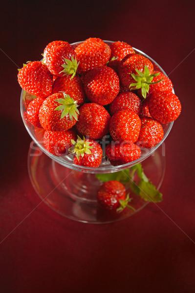 A goblet of fresh strawberries Stock photo © bogumil
