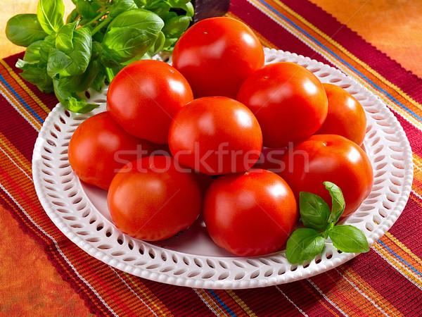 Fresco tomates prato saúde mercado salada Foto stock © bogumil