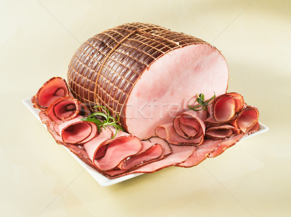 Ham on a plate Stock photo © bogumil