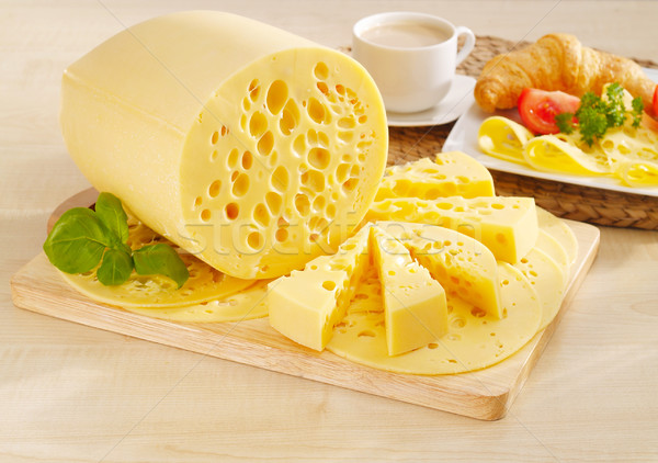 Tasty yellow cheese Stock photo © bogumil