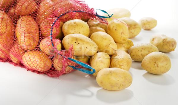 Foto d'archivio: Fresche · patate · bianco · orizzontale · alimentare