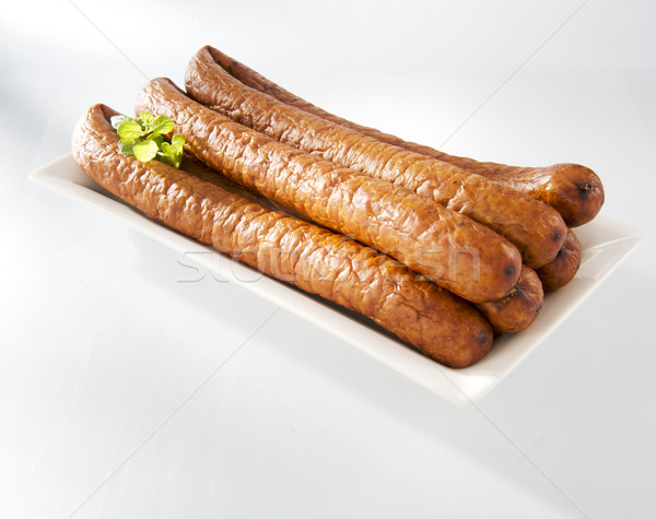Crumbly sausage on a plate Stock photo © bogumil