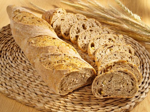 Taze uygunluk ekmek buğday tablo Stok fotoğraf © bogumil