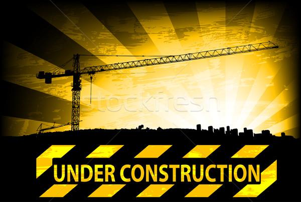 Bouw gebouw ontwerp achtergrond industrie industriële Stockfoto © bokica