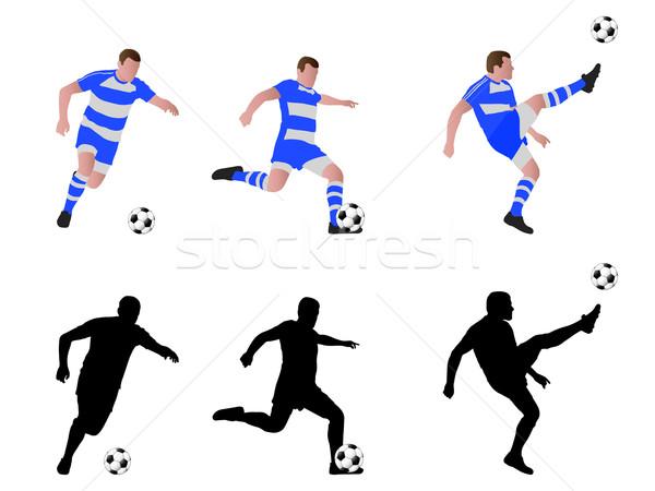 soccer player illustration Stock photo © bokica