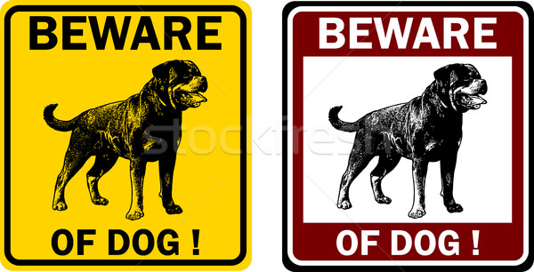 beware of dog sign Stock photo © bokica