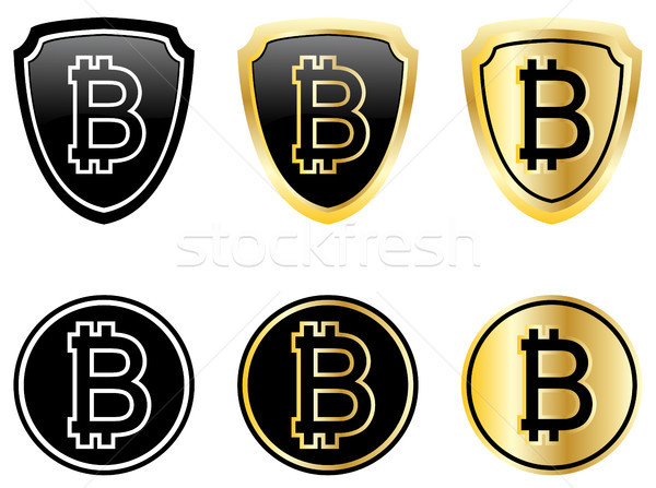 bitcoin icons set Stock photo © bokica