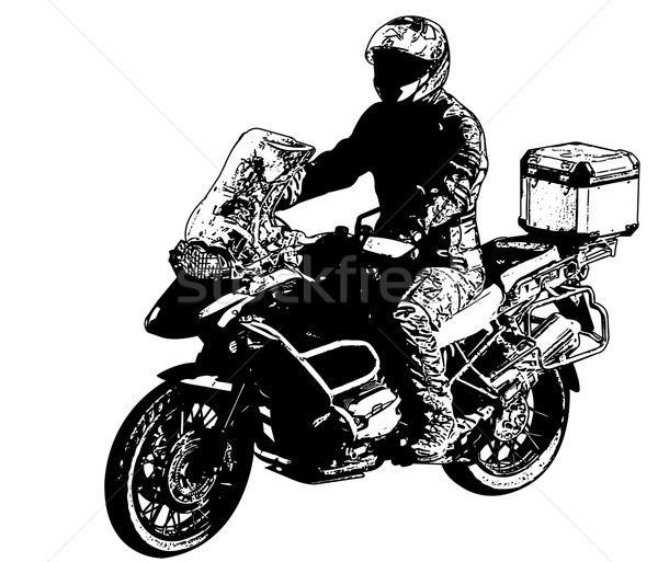 motorcyclist illustration Stock photo © bokica