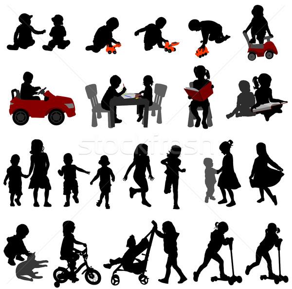 малышей дети коллекция девушки Dance Сток-фото © bokica