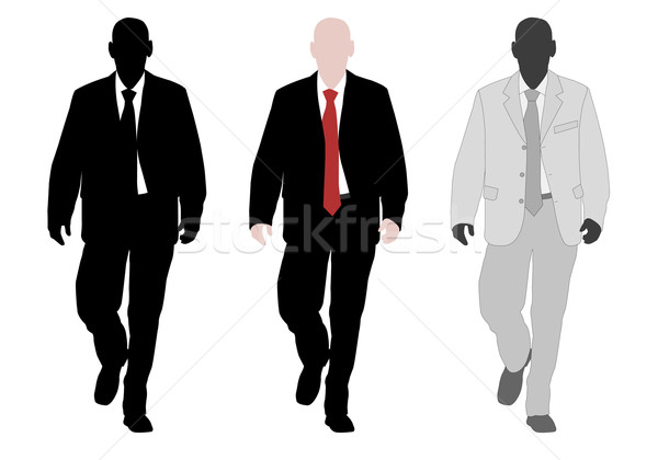 Jonge elegante zakenman business man corporate Stockfoto © bokica