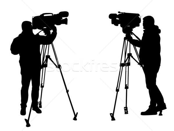 cameraman silhouettes Stock photo © bokica