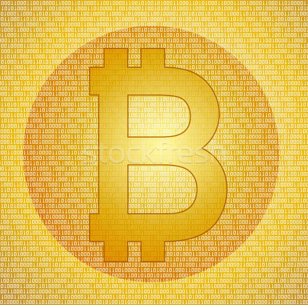 Bitcoin symbool abstract digitale mobiele financieren Stockfoto © bokica
