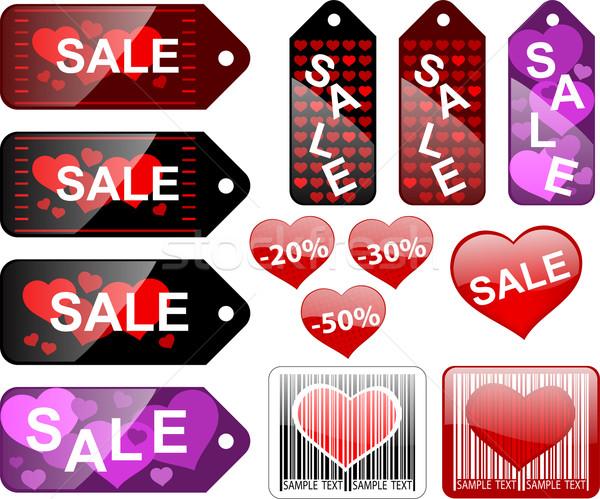 продажи Этикетки текстуры любви знак Сток-фото © bokica