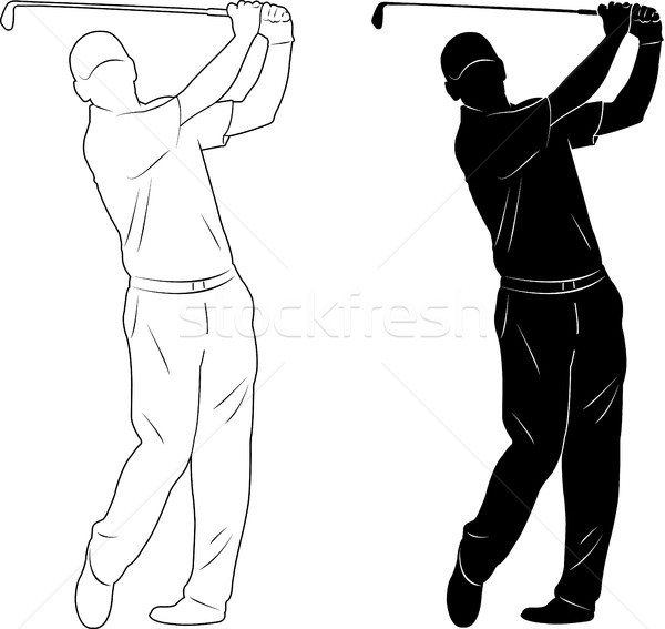 golf player silhouette Stock photo © bokica