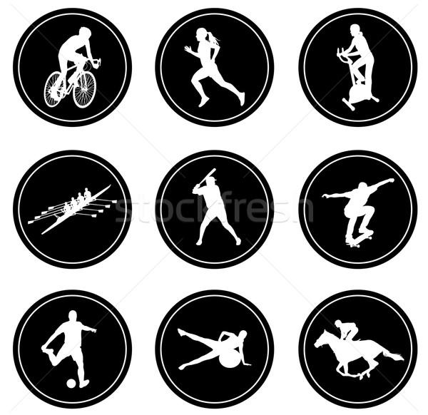 simple sport icons set Stock photo © bokica
