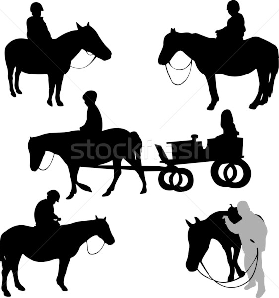 children riding horses Stock photo © bokica