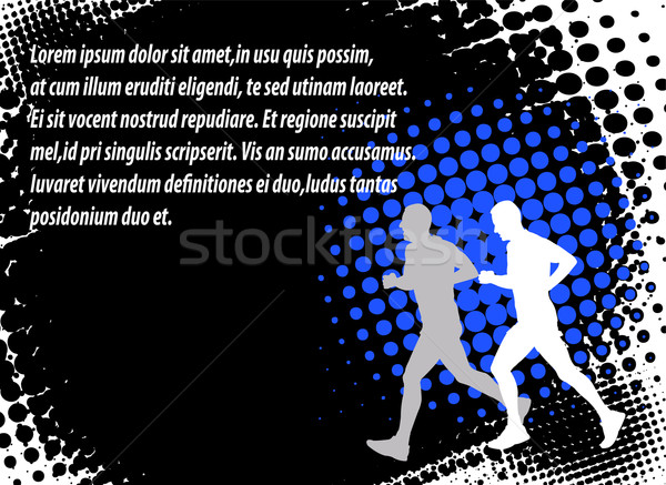 runners on the abstract background Stock photo © bokica