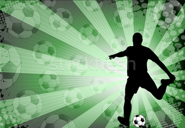 Voetballer abstract voetbal sport achtergrond ruimte Stockfoto © bokica