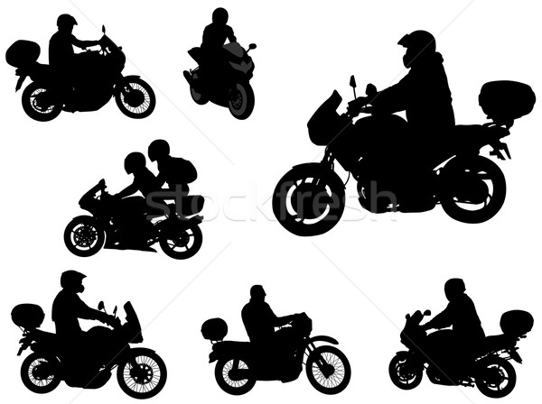 motorcyclists silhouettes Stock photo © bokica