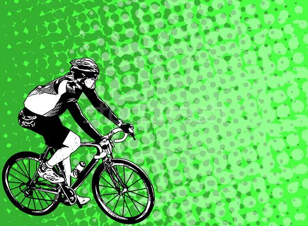 Race abstract achtergrond pak fiets Stockfoto © bokica
