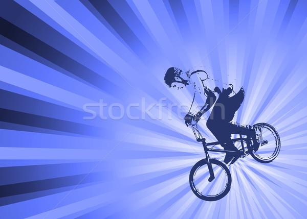 велосипедист аннотация дороги улице велосипедов велосипед Сток-фото © bokica