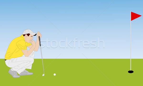 golfer illustration 4 Stock photo © bokica