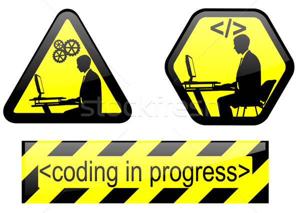 coding in progress signs Stock photo © bokica