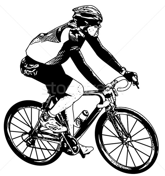 bicyclist sketch Stock photo © bokica