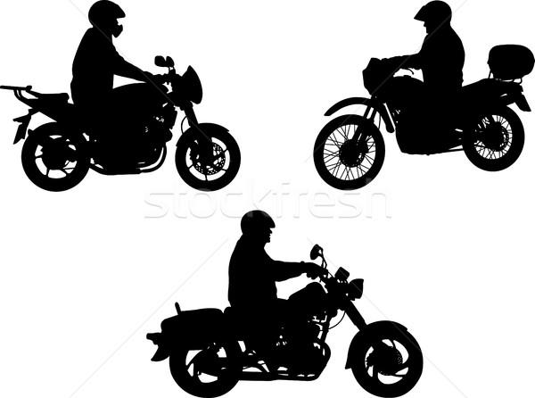 Sziluett sziluettek út sport sebesség forgalom Stock fotó © bokica