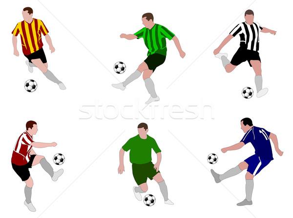 soccer players illustration 2 Stock photo © bokica