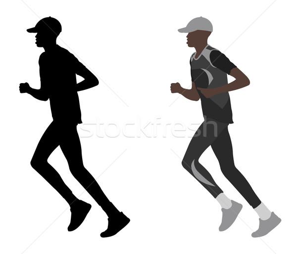 Maraton koşucu yol vücut uygunluk egzersiz Stok fotoğraf © bokica