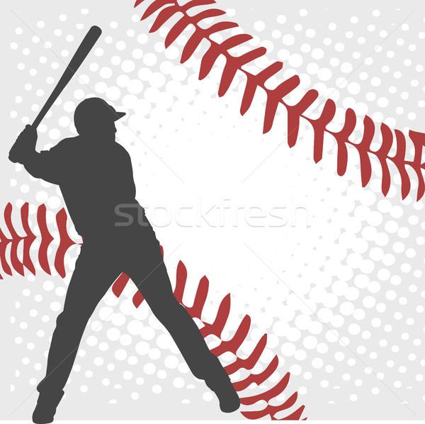Baseball játékos sziluett absztrakt sport egészség csapat Stock fotó © bokica