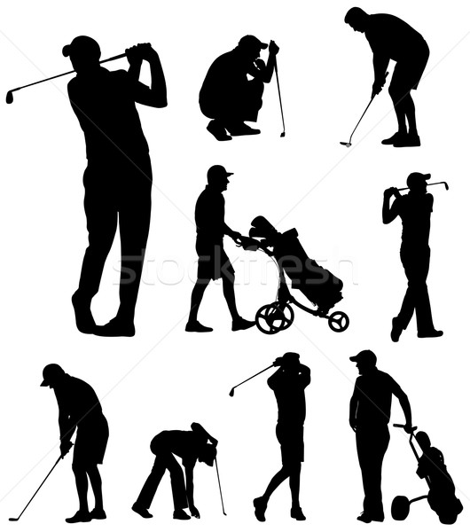 golfer silhouettes collection Stock photo © bokica