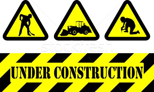 строительство признаков дизайна знак работник промышленных Сток-фото © bokica