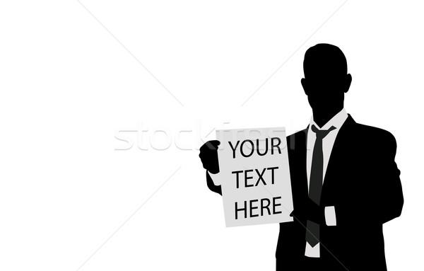 бизнесмен бумаги пространстве текста служба Сток-фото © bokica