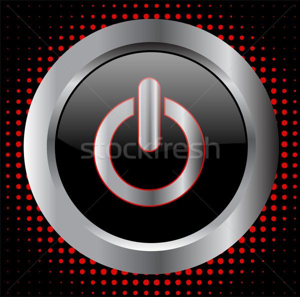 Erő gomb technológia felirat kulcs vészhelyzet Stock fotó © bokica
