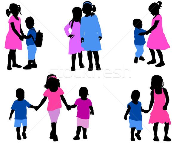 детей коллекция ребенка ребенка запустить Сток-фото © bokica