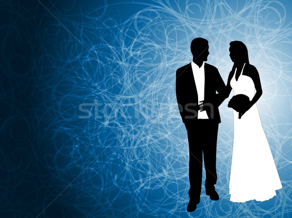 свадьба пару аннотация синий человека моде Сток-фото © bokica